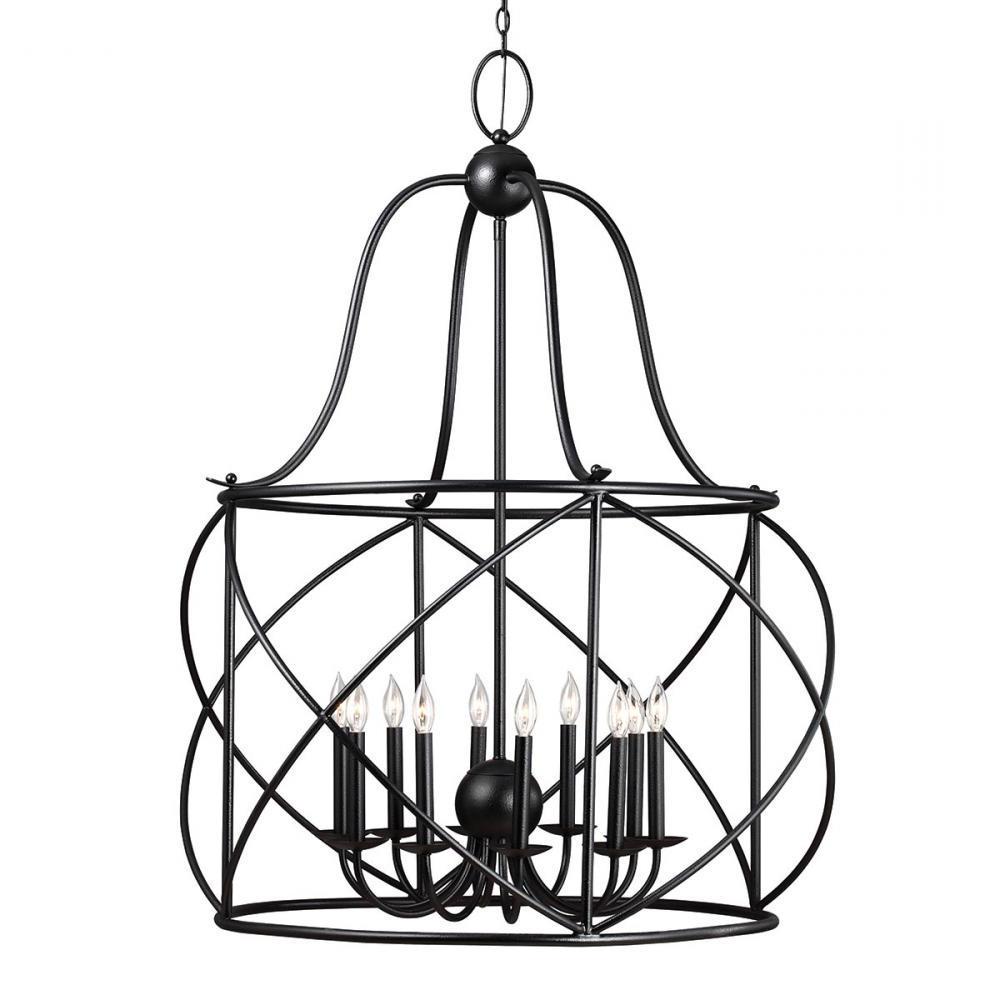 Sea Gull 5116410 839 – Turbinio Ten Light Hall / Foyer In Within Popular Nisbet 6 Light Lantern Geometric Pendants (View 20 of 20)