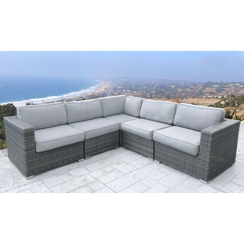 Seaham Patio Sectionals With Cushions Pertaining To Most Recent Nolen Patio Sectional With Cushions (View 13 of 20)