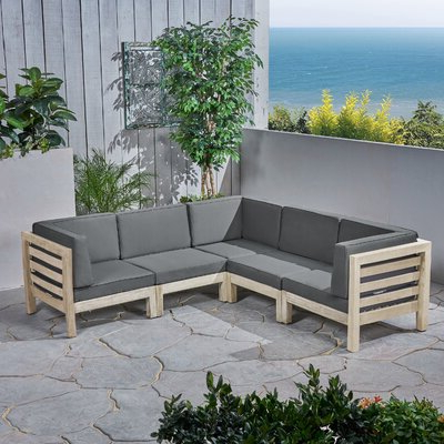 Seaham Patio Sectionals With Cushions With Most Up To Date Brayden Studio Seaham Patio Sectional With Cushions In  (View 15 of 20)