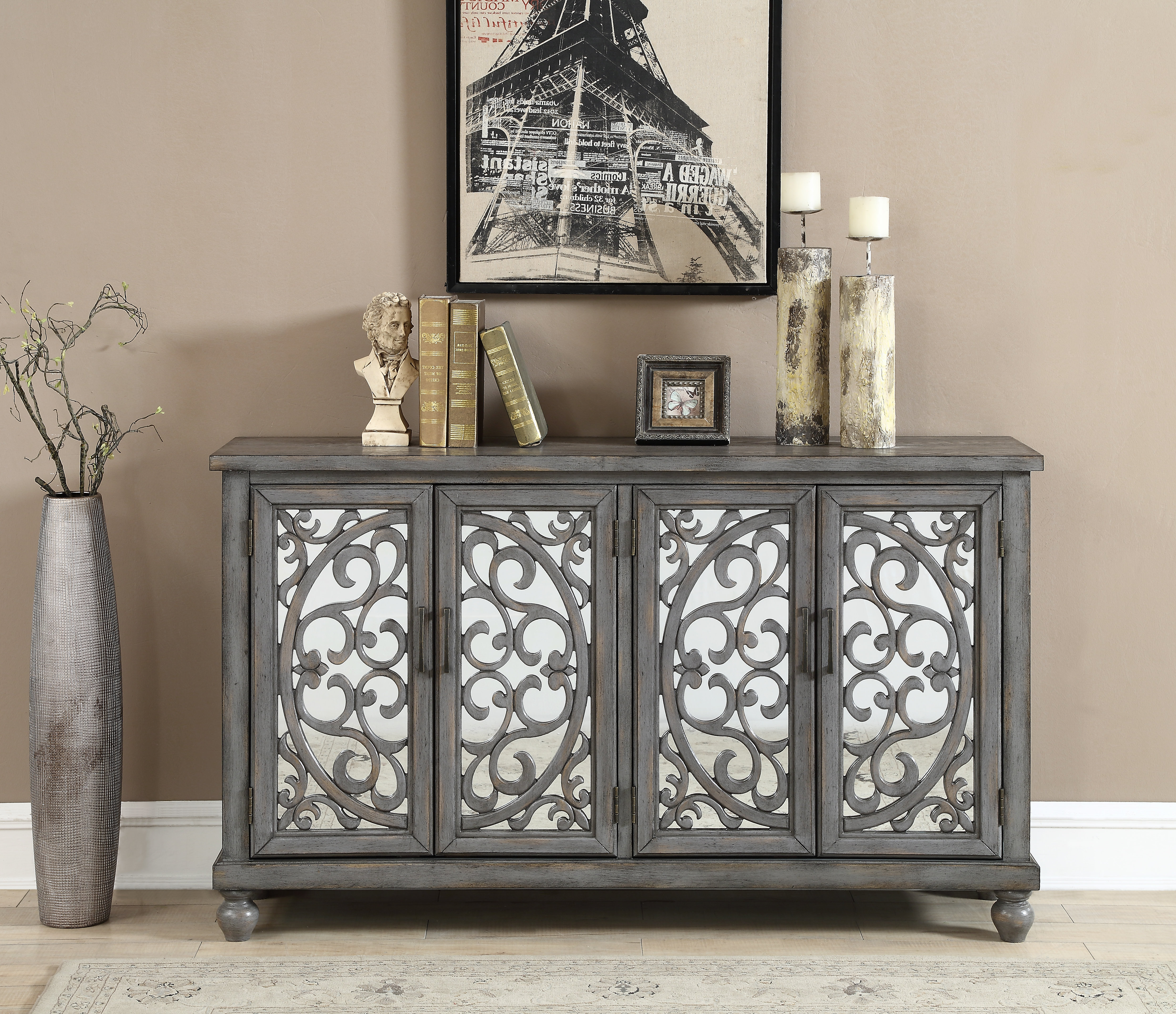 Serafino Media Credenzas With Well Known Guertin Credenza (View 15 of 20)