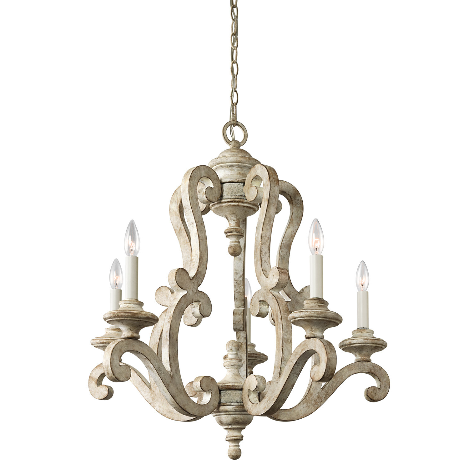 Shaylee 5 Light Candle Style Chandeliers In Widely Used Guglielmo 5 Light Candle Style Chandelier (View 12 of 20)