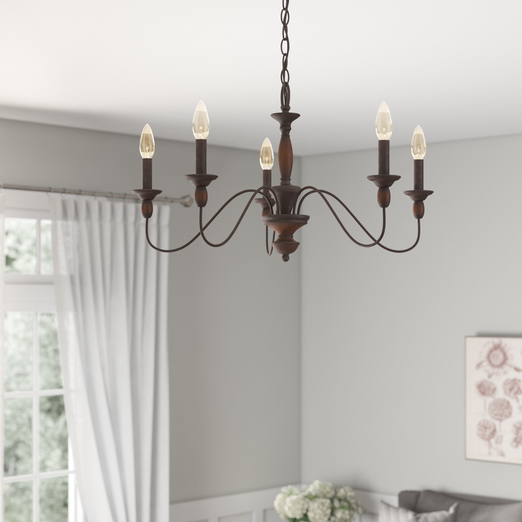 Shaylee 5 Light Candle Style Chandeliers Intended For Most Recently Released Sarah 5 Light Candle Style Chandelier (View 15 of 20)