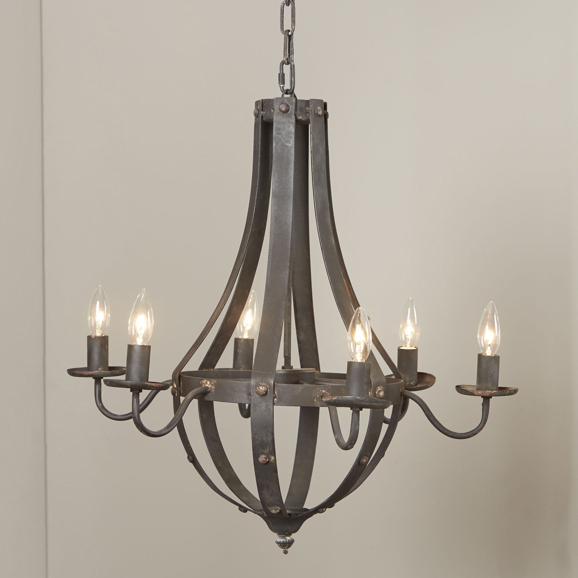Shaylee 6 Light Candle Style Chandeliers Inside Most Up To Date Foulds 6 Light Empire Chandelier (View 15 of 20)