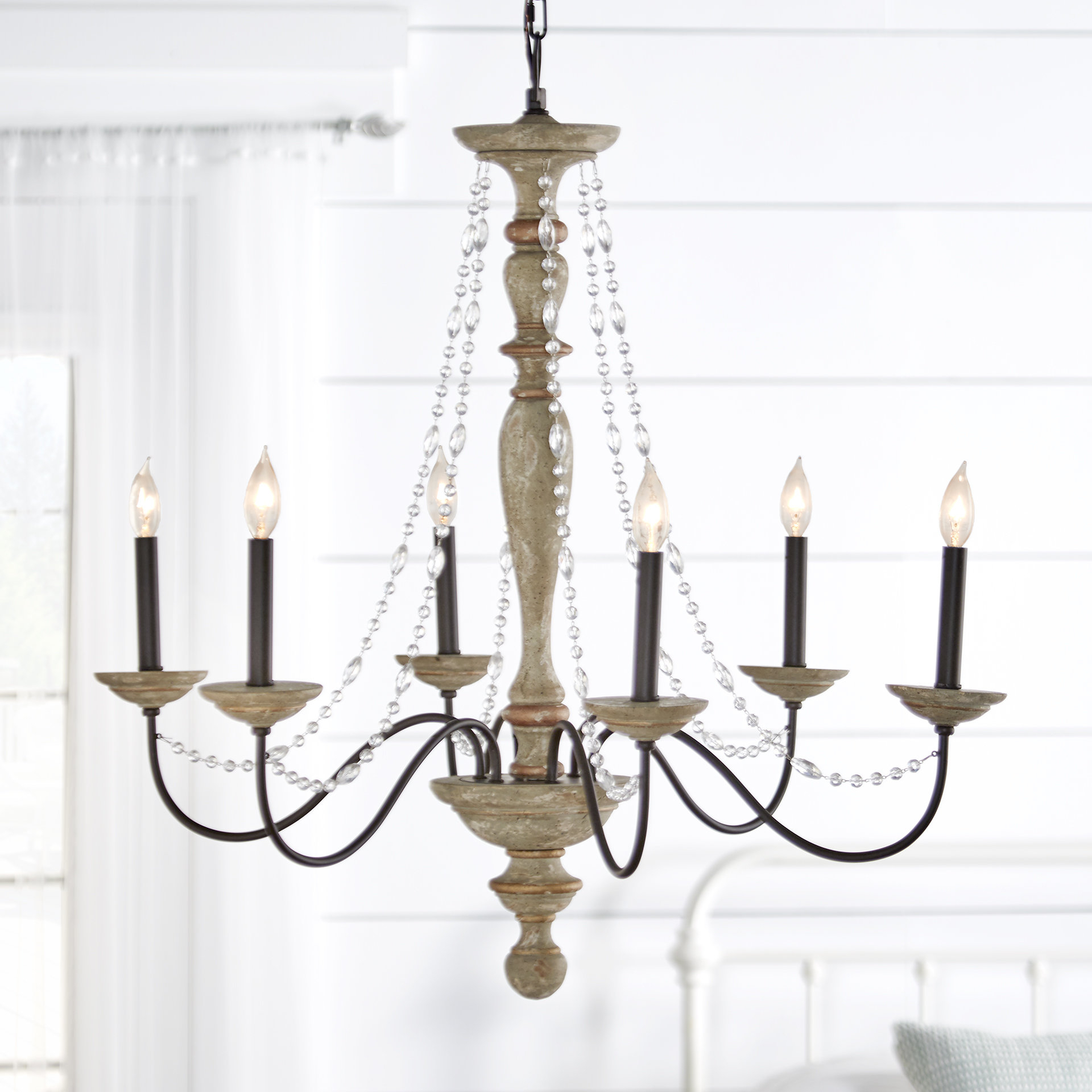 Shaylee 6 Light Candle Style Chandeliers Throughout Popular Three Posts Brennon 6 Light Candle Style Chandelier (View 13 of 20)