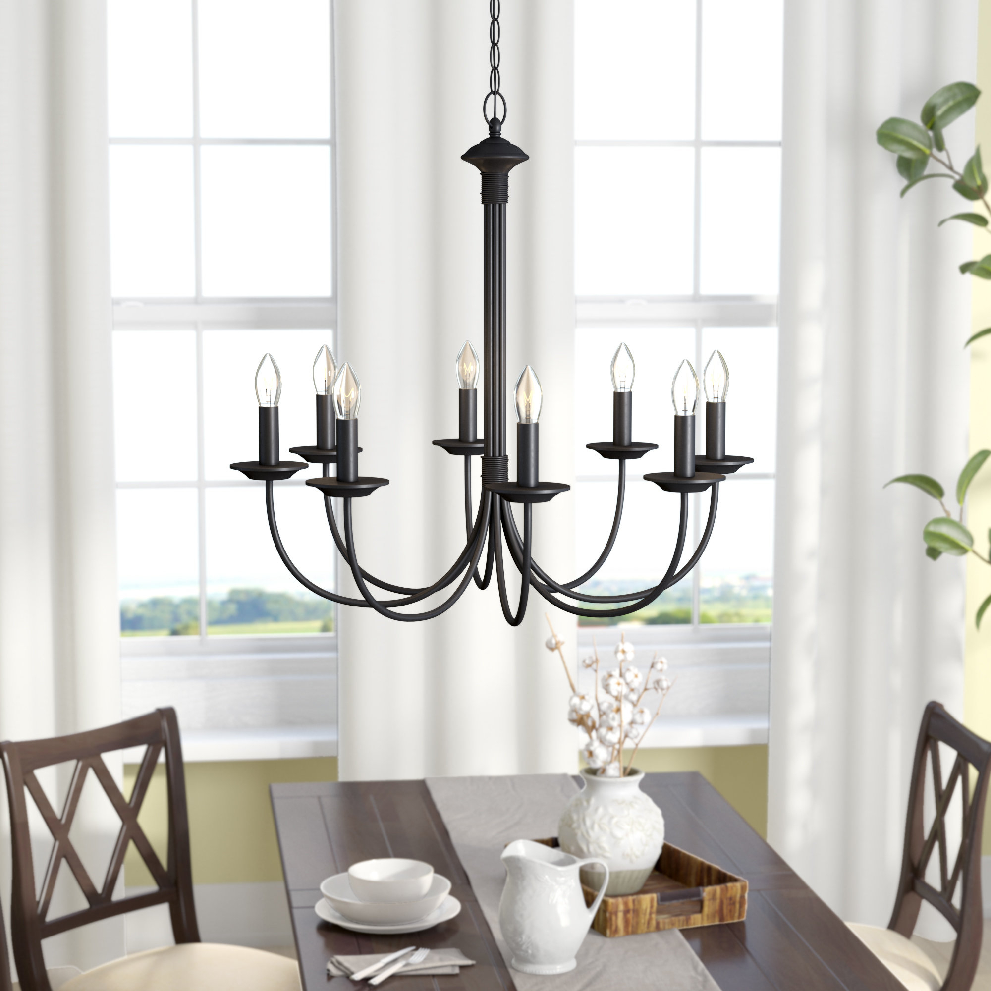 Shaylee 8 Light Candle Style Chandelier Within Fashionable Shaylee 8 Light Candle Style Chandeliers (Gallery 2 of 20)