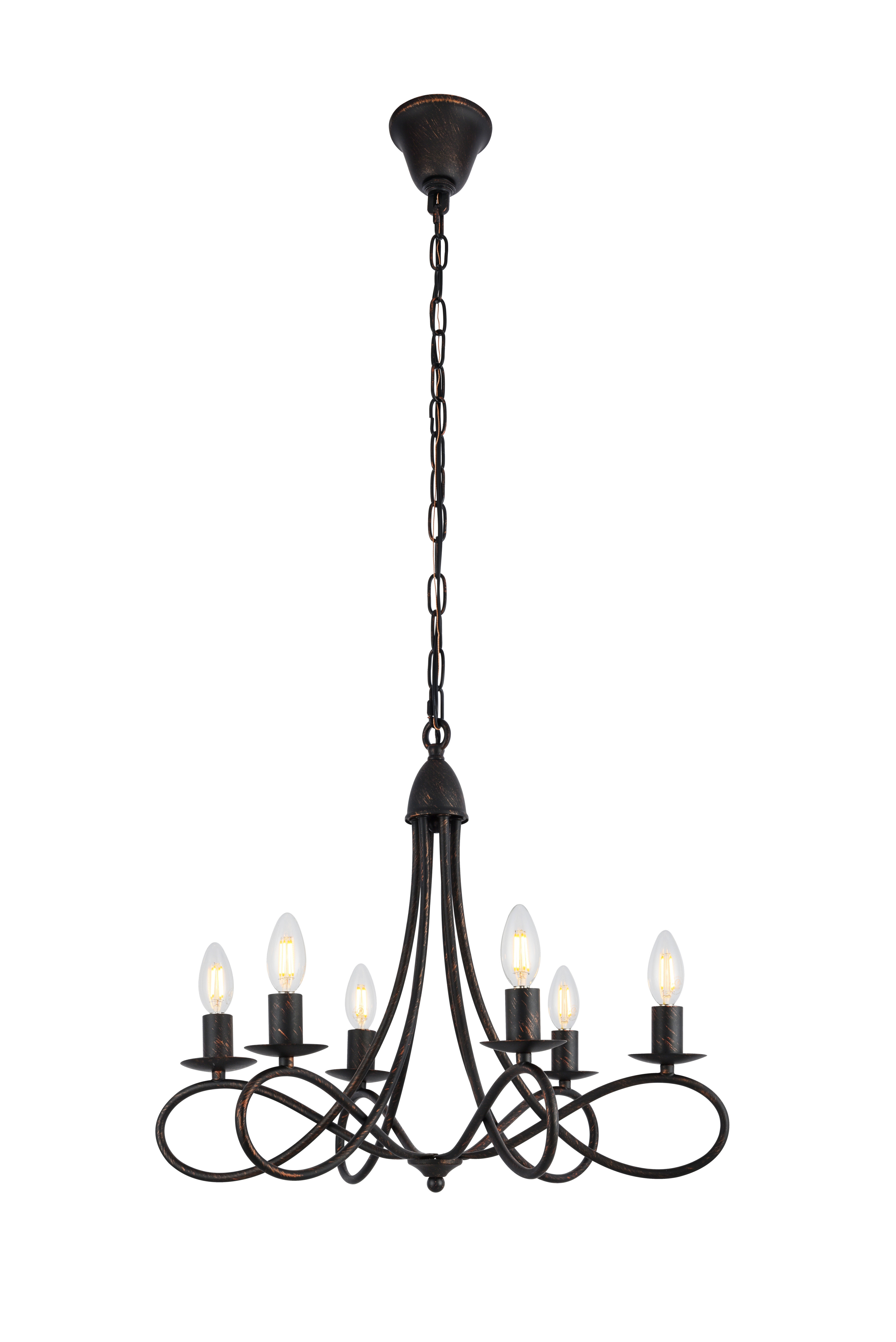 Sherri 6 Light Chandeliers Intended For Current Darby Home Co Diaz 6 Light Candle Style Chandelier (Gallery 13 of 20)
