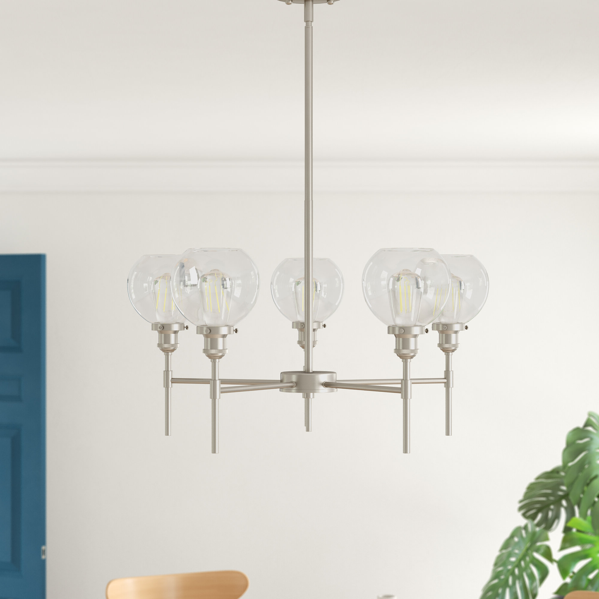Sherri 6 Light Chandeliers Pertaining To Well Known Dunneback 5 Light Shaded Chandelier (Gallery 15 of 20)