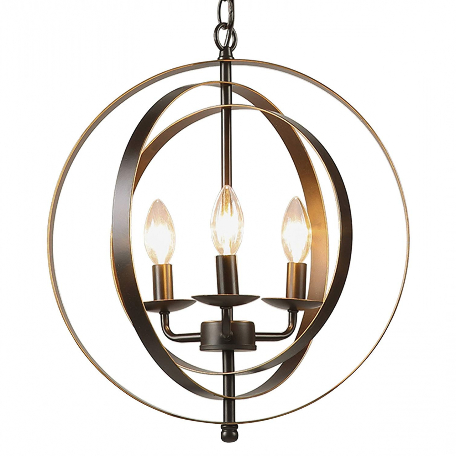 Shipststour 3 Light Globe Chandeliers Pertaining To Famous Lighting (View 17 of 20)