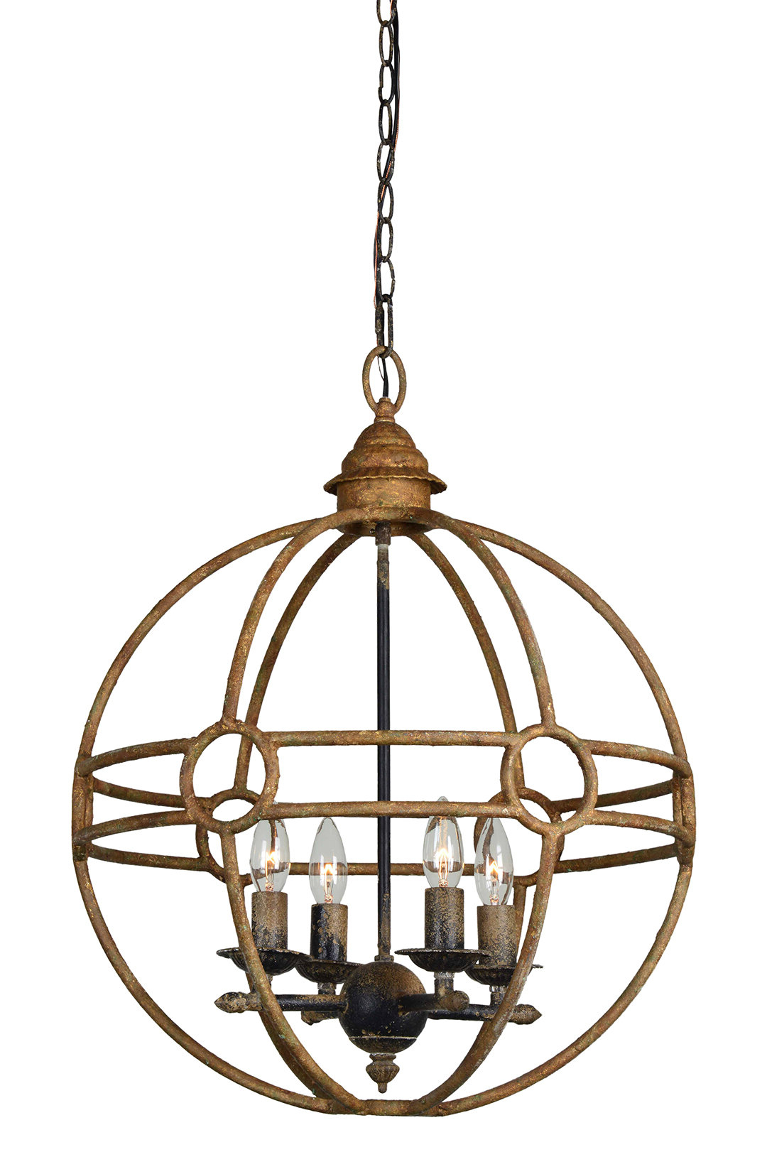 Shipststour 3 Light Globe Chandeliers Pertaining To Favorite Millicent 4 Light Globe Chandelier (Gallery 15 of 20)