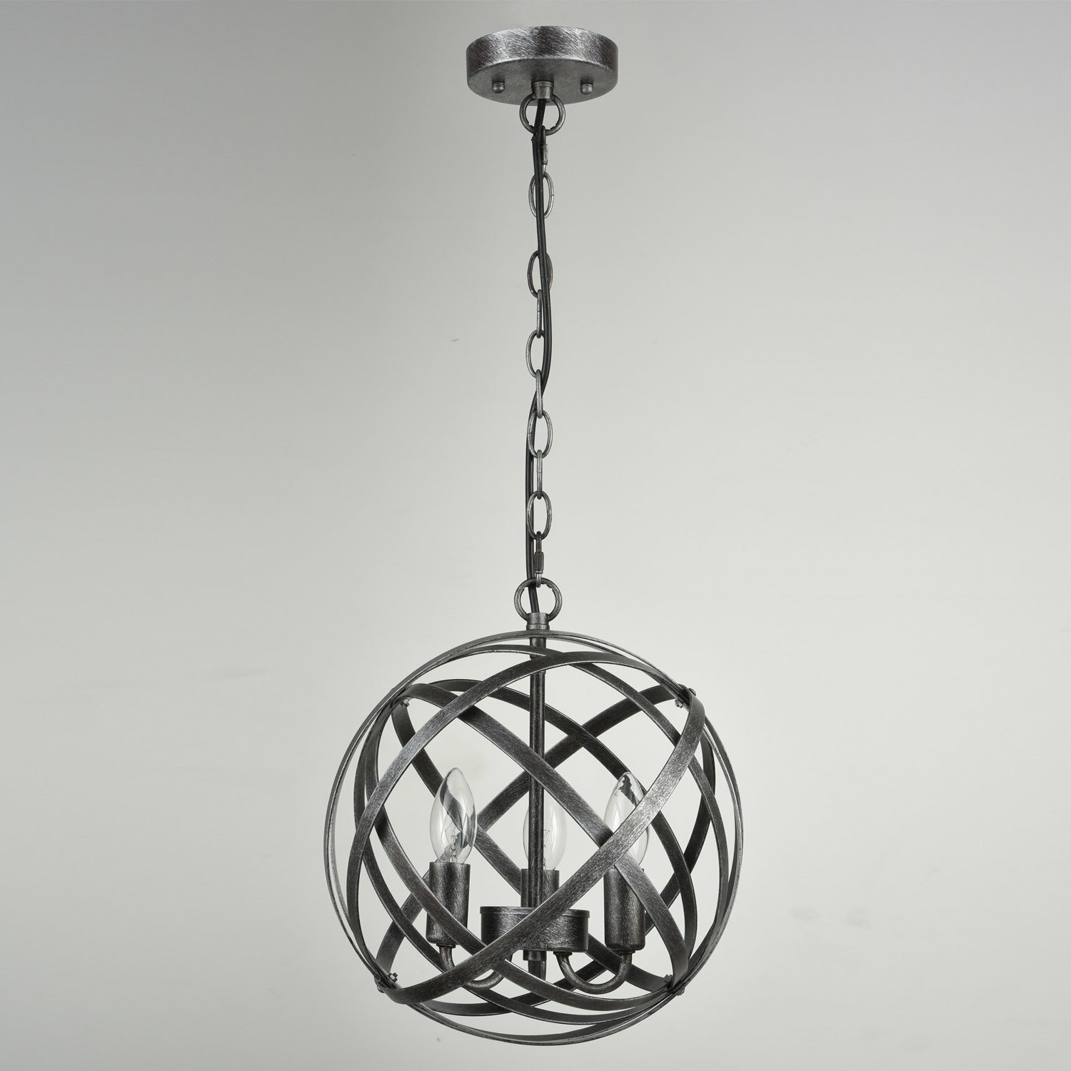 Shipststour 3 Light Globe Chandeliers Throughout Best And Newest Mcinerney Cage 3 Light Globe Chandelier (Gallery 8 of 20)