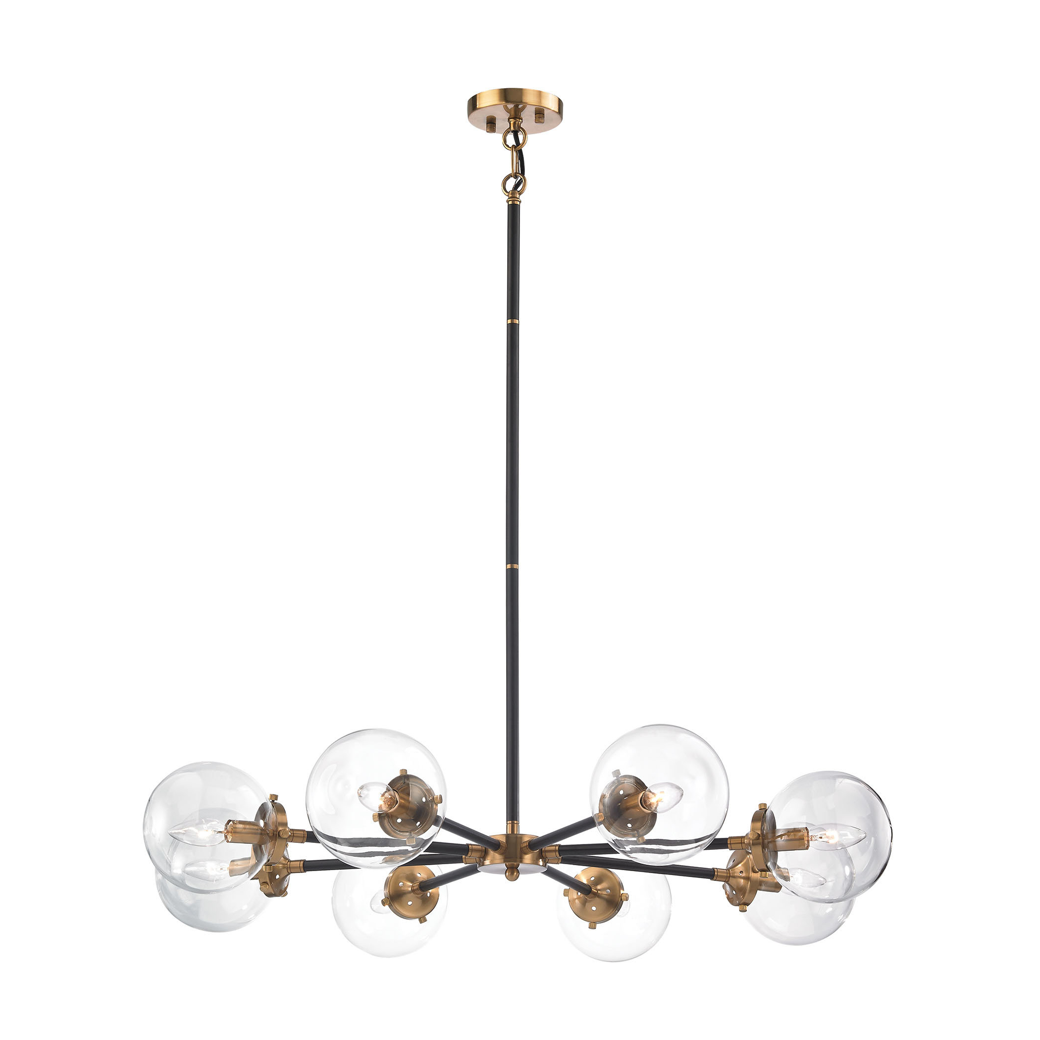 Shontelle 8 Light Chandelier Intended For Newest Asher 12 Light Sputnik Chandeliers (View 20 of 20)