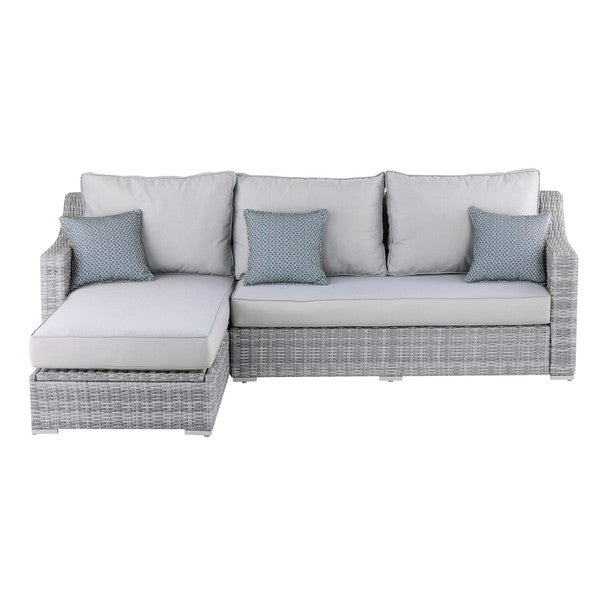 Shop Elle Decor Vallauris Grey Wicker Outdoor Storage Within Trendy Vallauris Sofa With Cushions (View 12 of 20)