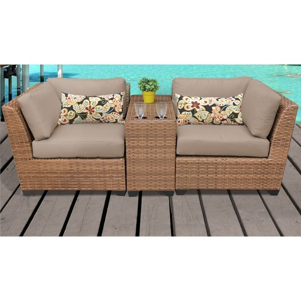 Shop Laguna 3 Piece Outdoor Wicker Patio Furniture Set 03B With Regard To Newest Laguna Outdoor Sofas With Cushions (Gallery 6 of 20)