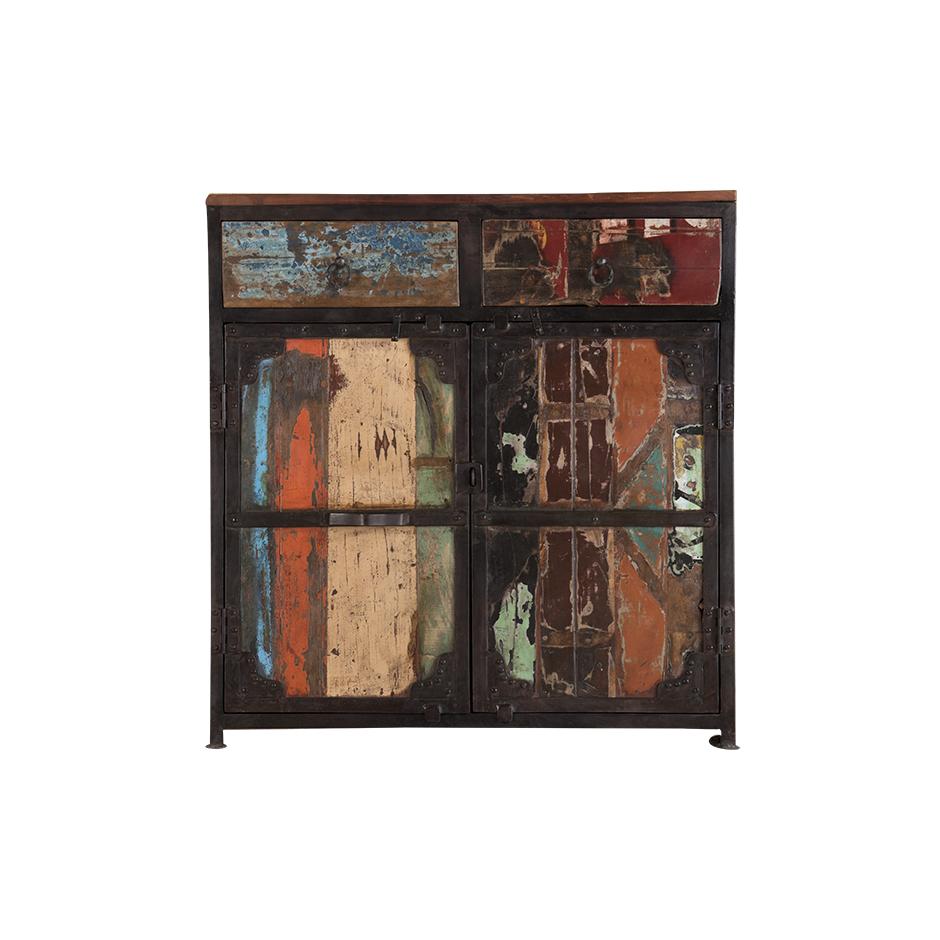 "Sideboard In Recycled Wood ""periya"" Small With Trendy Abhinav Credenzas (Gallery 18 of 20)"