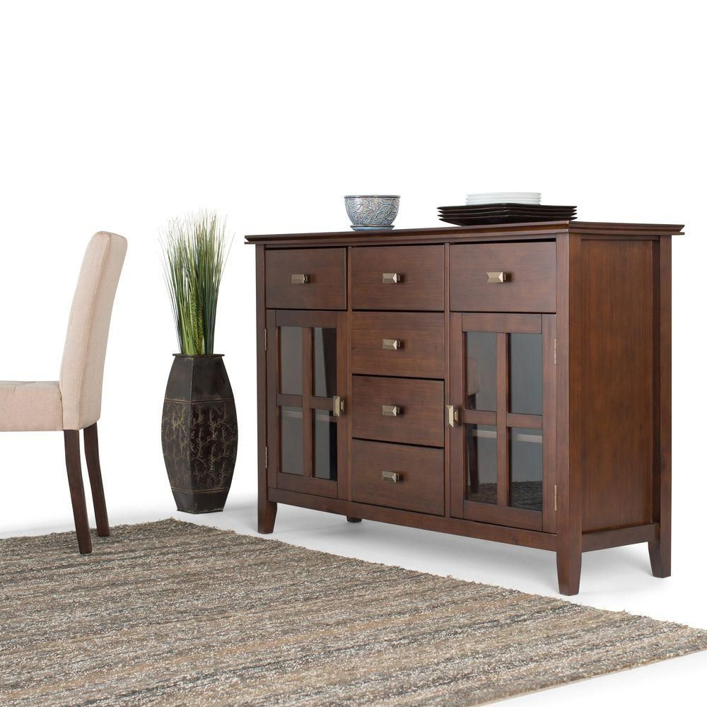 Sideboards By Wildon Home In Preferred Simpli Home Artisan Solid Wood 54 In (View 12 of 20)