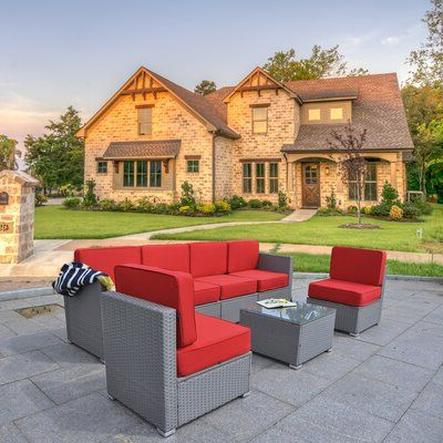 Silloth Patio Sofas With Cushions In Famous Ivy Bronx Silloth Outdoor 7 Piece Sectional Seating Group (View 10 of 20)