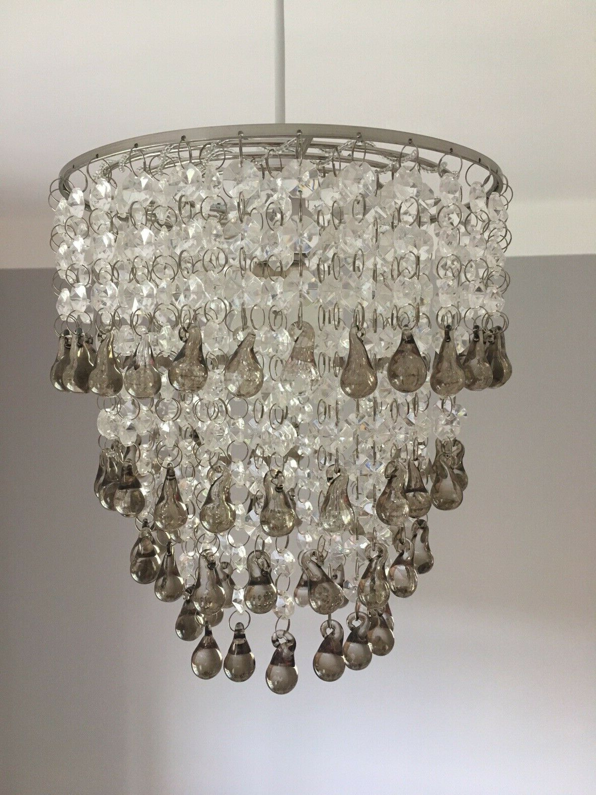 Sinead 4 Light Chandeliers Throughout Widely Used Laura Ashley 'Carmen' Easy Fit Chandelier / Pendant With Smoked Glass Droplets (View 15 of 20)