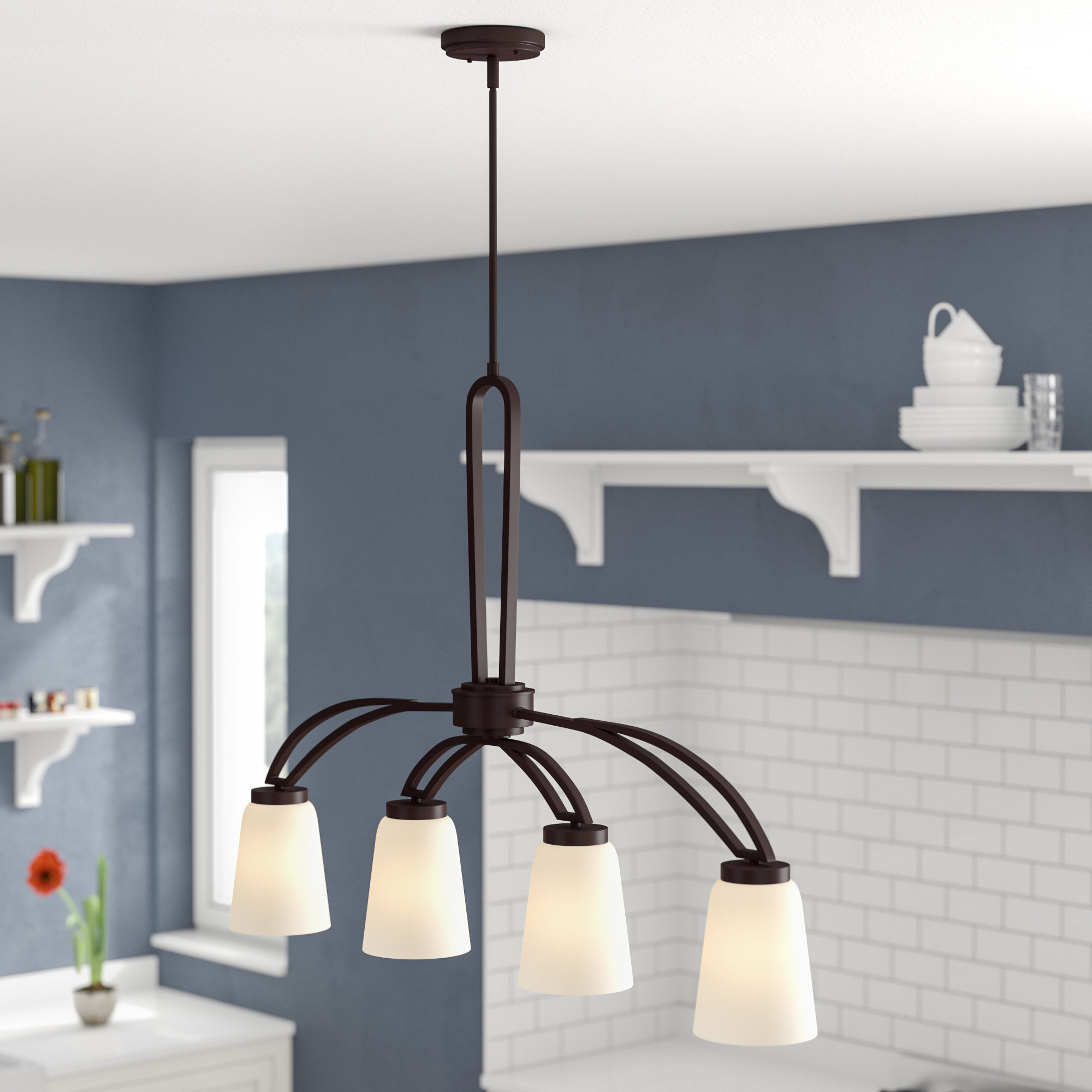 Smithville 4 Light Kitchen Island Pendants Pertaining To Recent Casias 4 Light Kitchen Island Pendant (View 15 of 20)