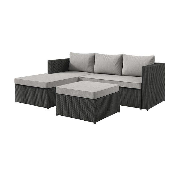 Sol 72 Outdoor Calla Patio Sectional With Cushions & Reviews Intended For Best And Newest Falmouth Loveseats With Cushions (View 15 of 20)
