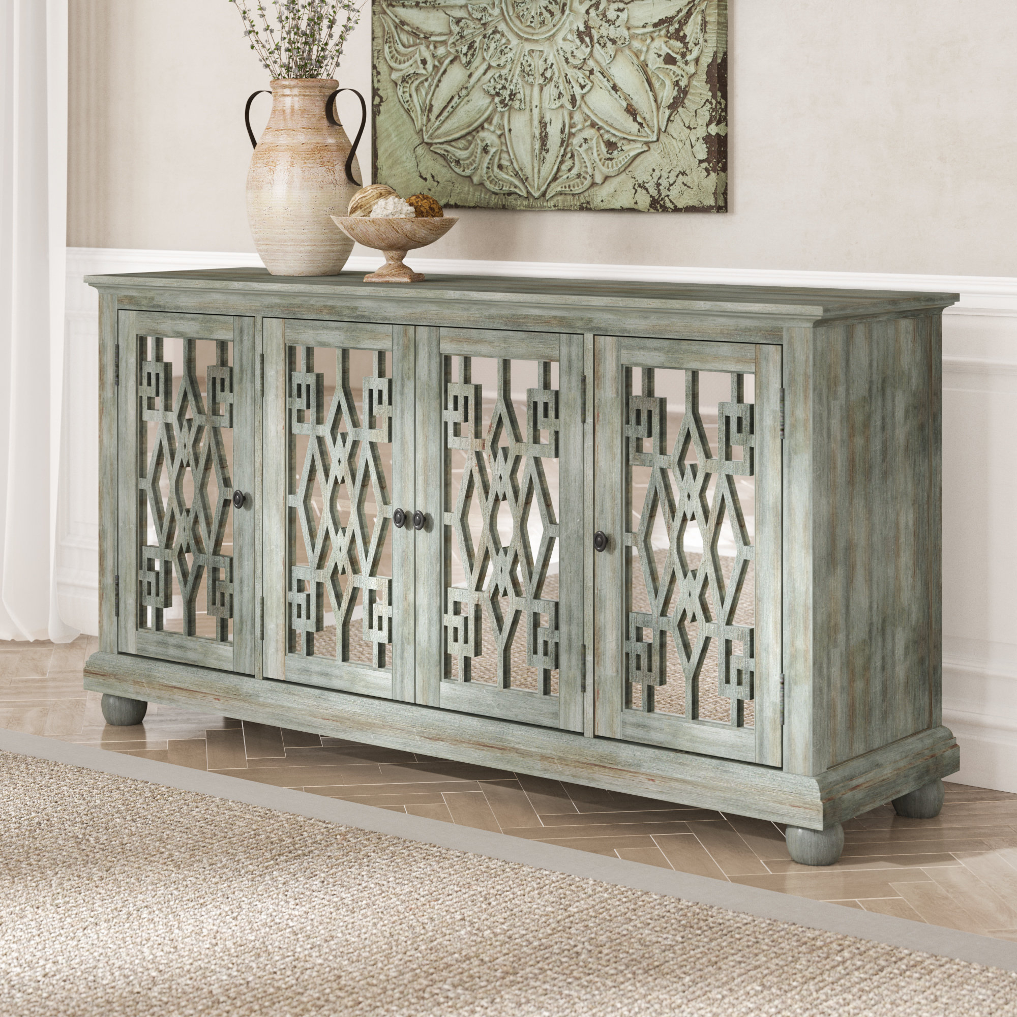 Sonnenberg Wood Sideboard For Newest Ethelinda Media Credenzas (View 13 of 20)