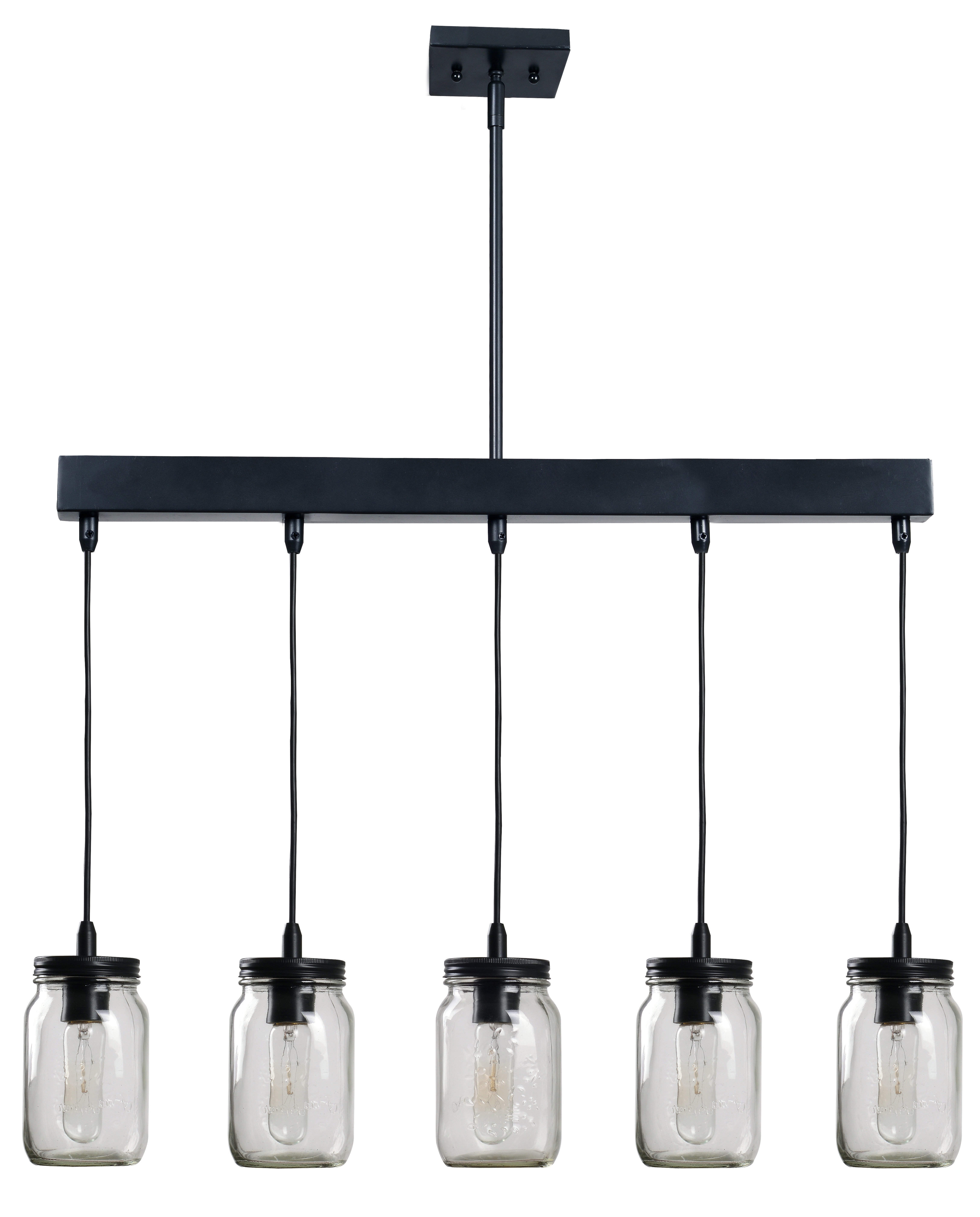 Sousa 4 Light Kitchen Island Linear Pendants Inside 2019 Wednesbury 5 Light Kitchen Island Jar Pendant (View 11 of 20)