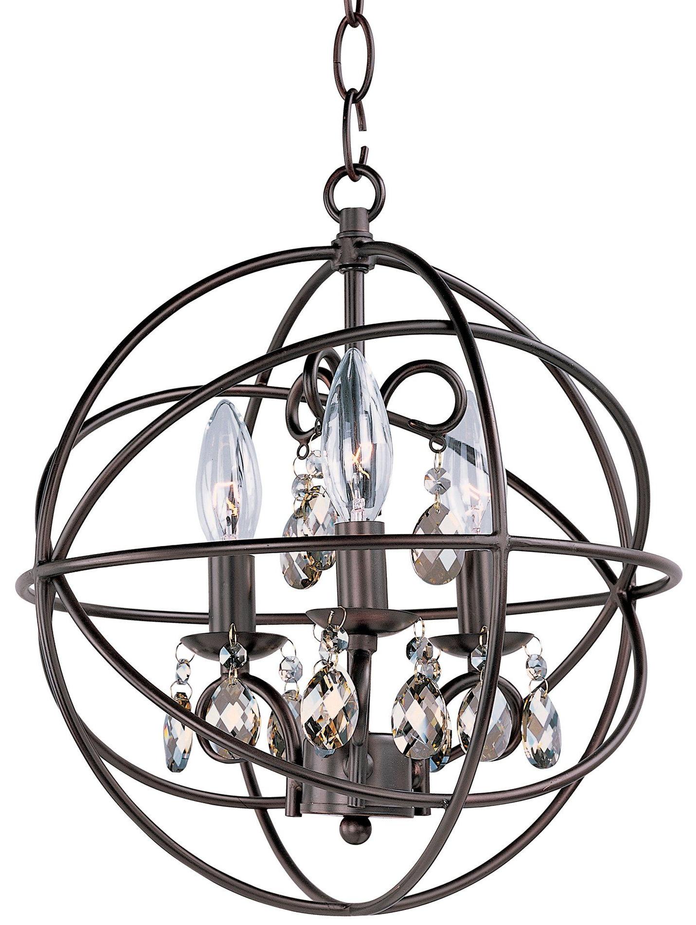 South Shore Decorating: Maxim Lighting 25140Oi Orbit Within Popular Alden 6 Light Globe Chandeliers (Gallery 9 of 20)