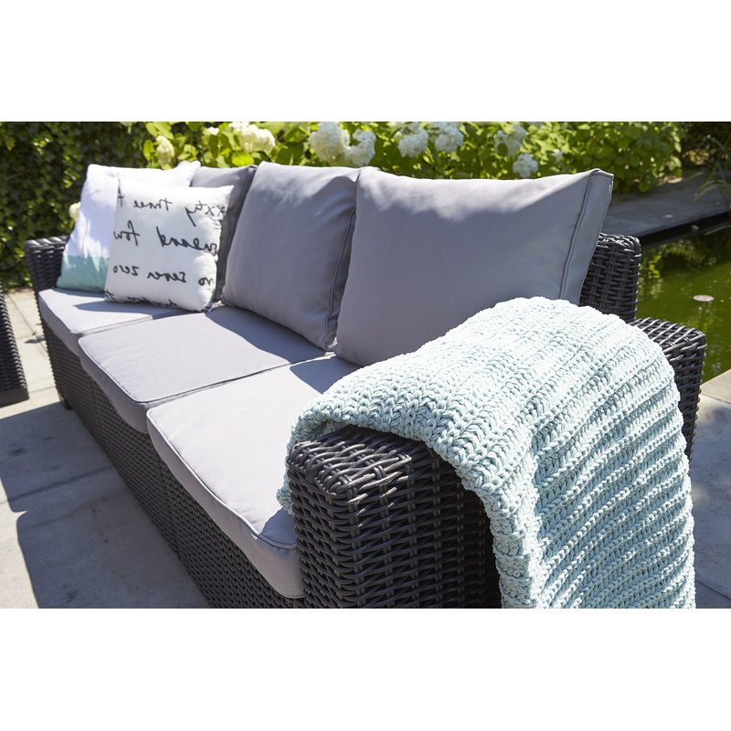 Stallcup Patio Sofa With Cushions In Fashionable Silloth Patio Sofas With Cushions (View 15 of 20)