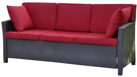Stapleton Wicker Resin Patio Sofas With Cushions Pertaining To Latest Pinterest – Пинтерест (View 17 of 20)