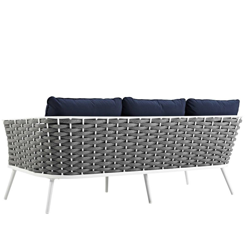 Stapleton Wicker Resin Patio Sofas With Cushions With Most Up To Date Rossville Outdoor Patio Sofa With Cushions (View 18 of 20)