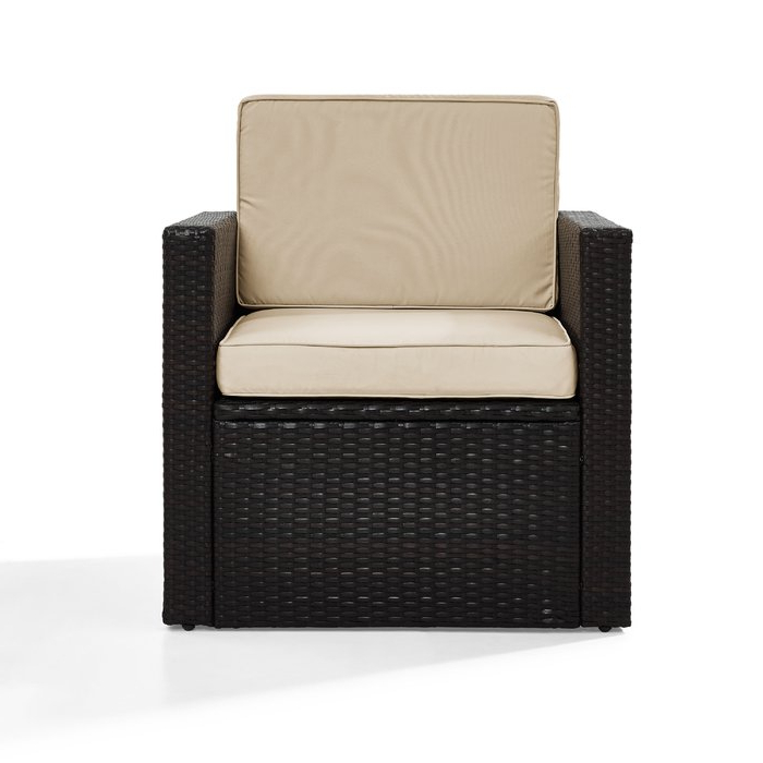 Stapleton Wicker Resin Patio Sofas With Cushions With Well Known Belton Outdoor Wicker Deep Seating Patio Chair With Cushion (Gallery 18 of 20)