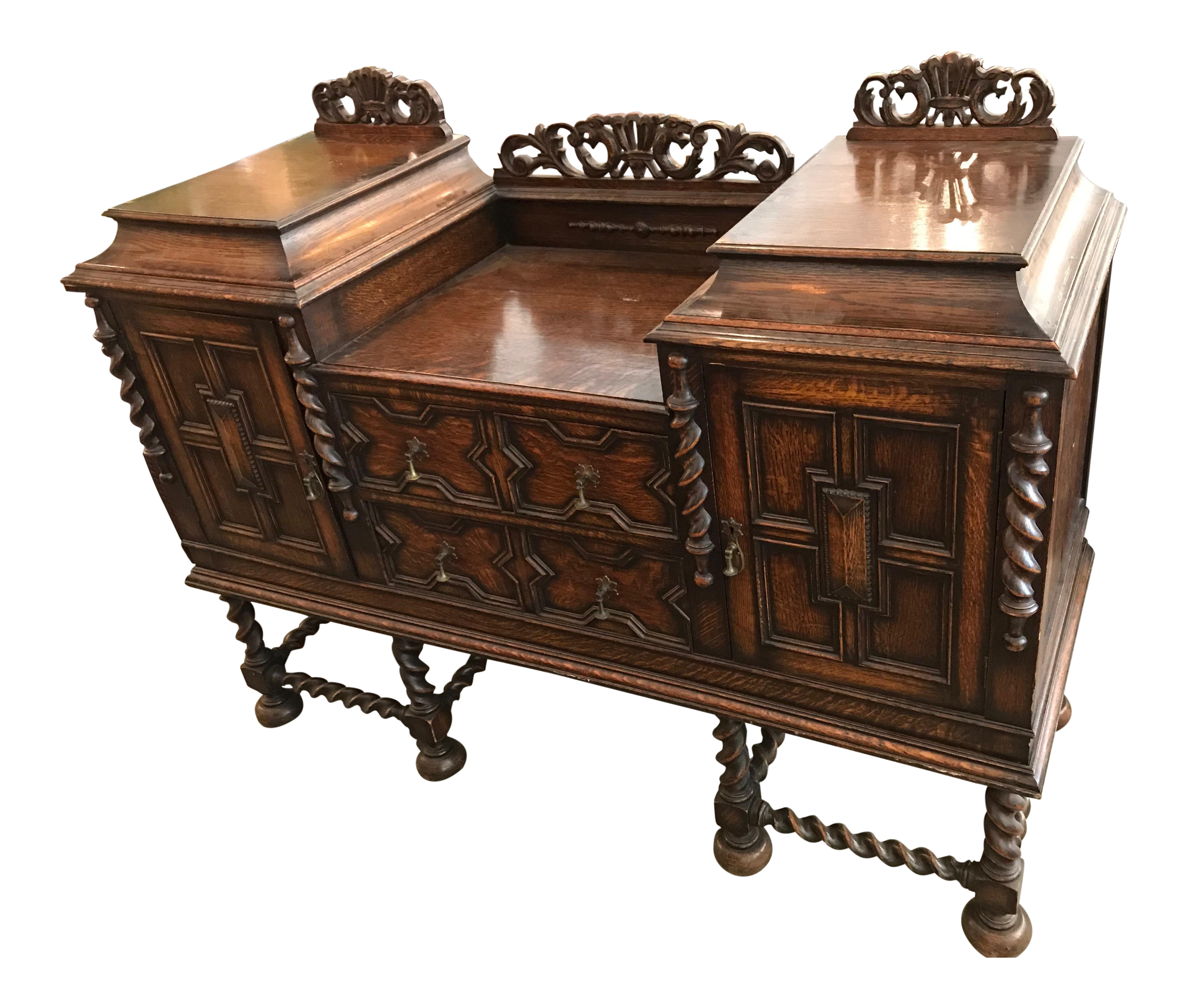 Stennis Sideboards Intended For Latest Antique Spanish Style Dark Wood Sideboard Dining Room (View 17 of 20)