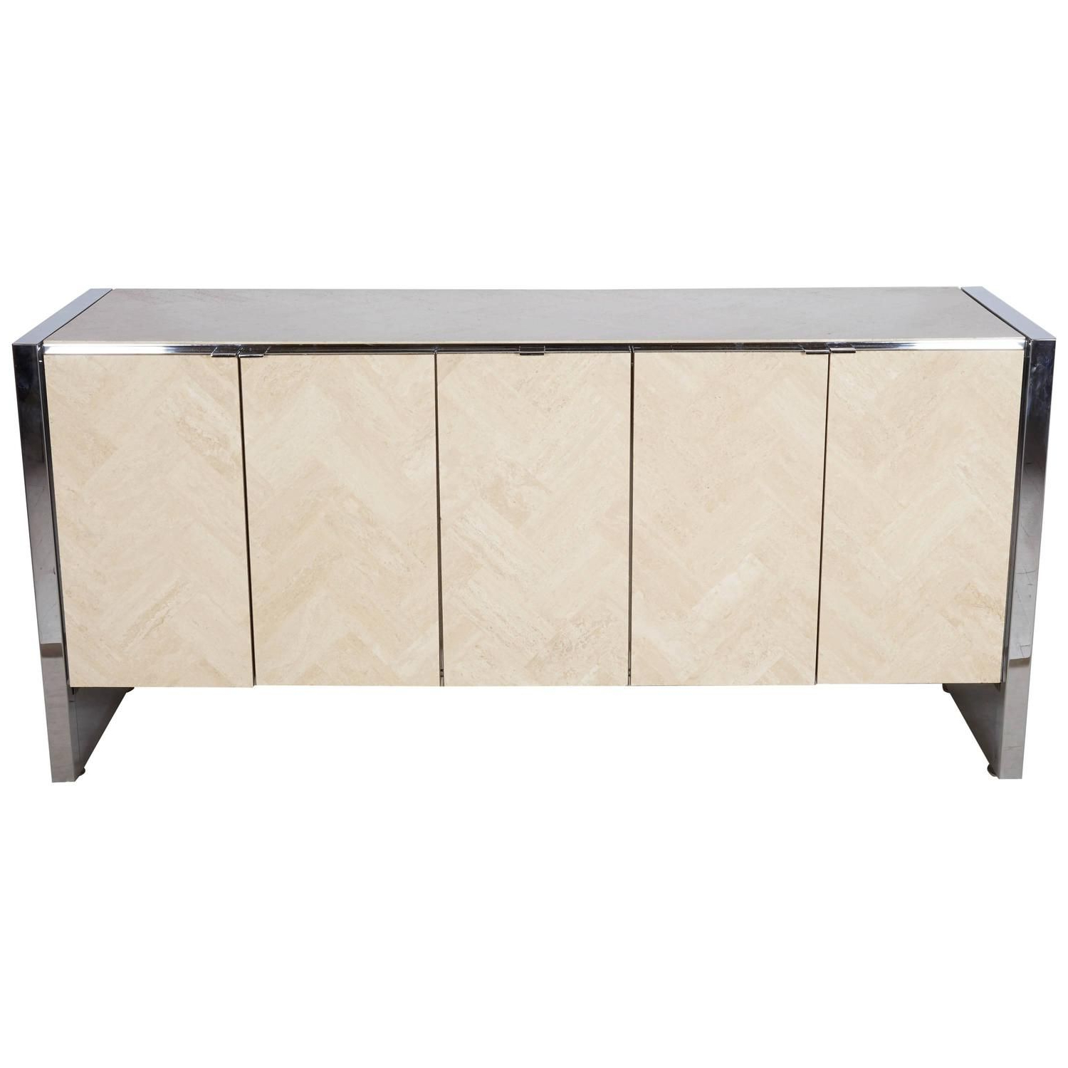 Stephen Credenzas Intended For 2020 Ello Credenza Finished In Carrara Marble In (View 2 of 20)