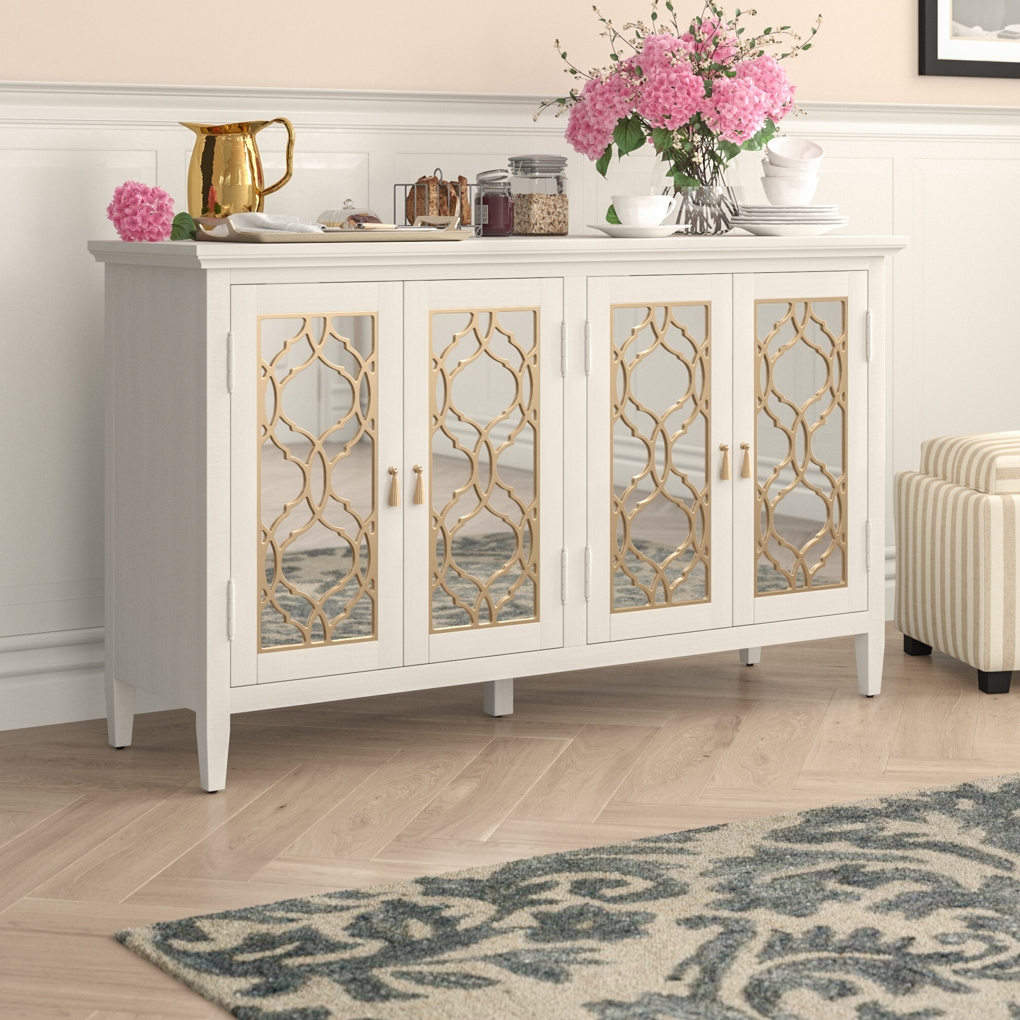 Stillwater Sideboards In Best And Newest Adali Four Door Mirror Front Sideboard (Gallery 9 of 20)