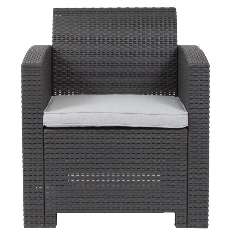 Stockwell Patio Chair With Cushion Pertaining To Most Current Stockwell Patio Sofas With Cushions (View 7 of 20)