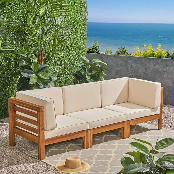 Stockwell Patio Sofas With Cushions Inside Preferred Brayden Studio Seaham Patio Sofa With Cushions Cushion (View 17 of 20)