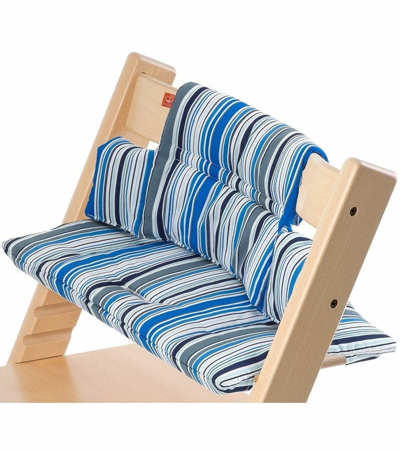 Stokke Tripp Trapp Cushion  Ocean Stripe Within Preferred Tripp Loveseats With Cushions (View 8 of 20)