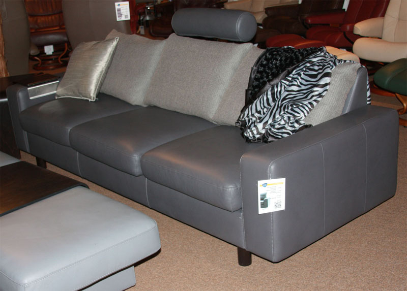 Stressless E300 Leather Ergonomic Sofa Couch With Separate For Preferred Paloma Sectionals With Cushions (View 16 of 20)