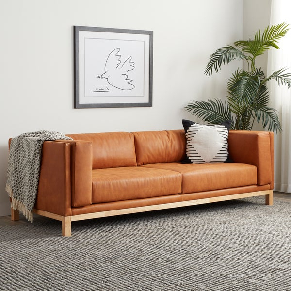 Strick & Bolton Ellison Two Sofa In Mid Century Tan With Fashionable Ellison Patio Sectionals With Cushions (Gallery 20 of 20)