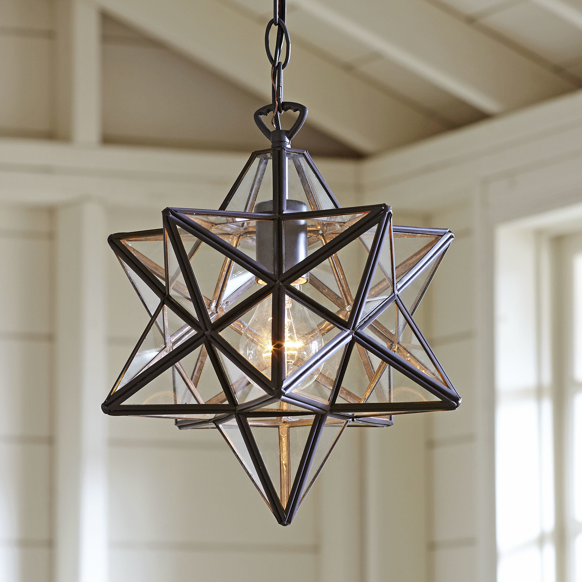 Sture 1 Light Geometric Pendant Inside Popular Delon 1 Light Lantern Geometric Pendants (Gallery 19 of 20)