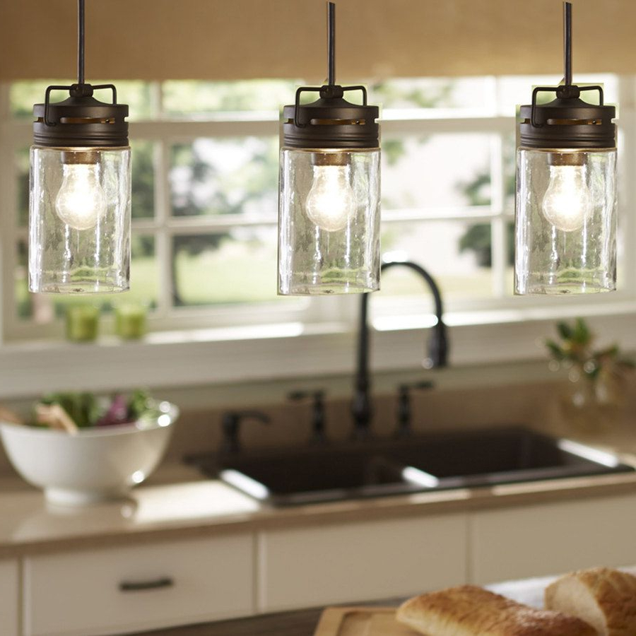 Sue 1 Light Single Jar Pendants Inside Newest Industrial Farmhouse Glass Jar Pendant Light Pendant (View 13 of 20)