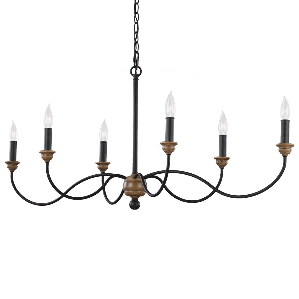 Sundberg 6 Light Candle Style Chandelier In Well Known Shaylee 6 Light Candle Style Chandeliers (View 3 of 20)