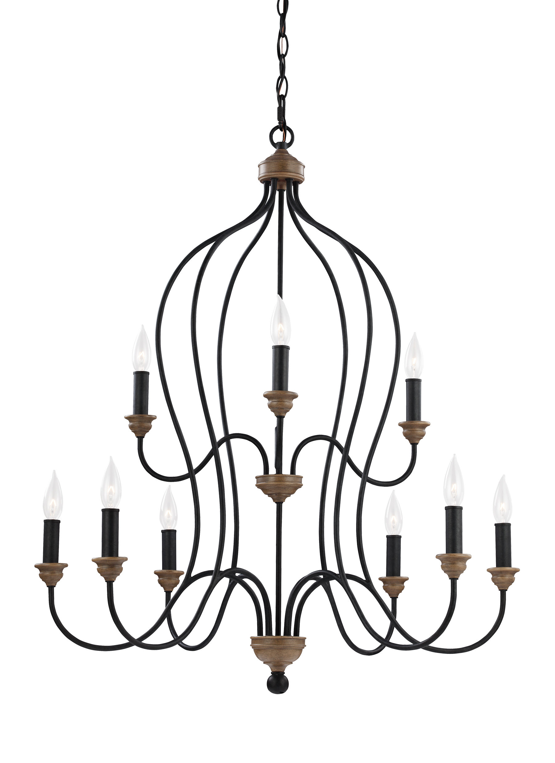Sundberg 9 Light Candle Style Chandelier With Fashionable Gaines 9 Light Candle Style Chandeliers (Gallery 5 of 20)