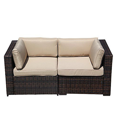Super Patio Loveseat, 2 Piece Outdoor Furniture Set, All Pertaining To Famous Mosca Patio Loveseats With Cushions (Gallery 12 of 20)