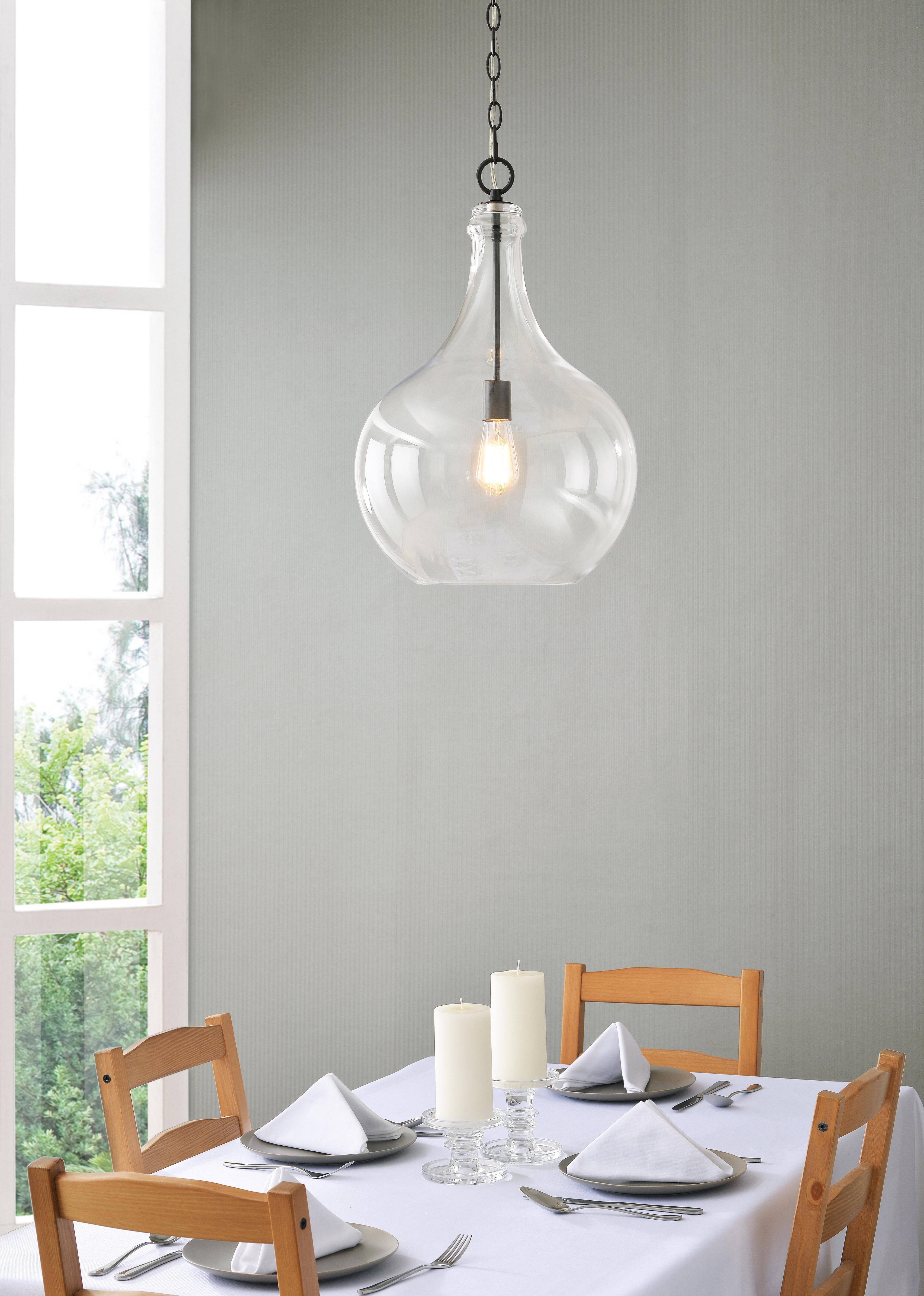 Sussex 1 Light Single Geometric Pendants With Regard To Well Liked Bustillos 1 Light Single Globe Pendant (Gallery 17 of 20)