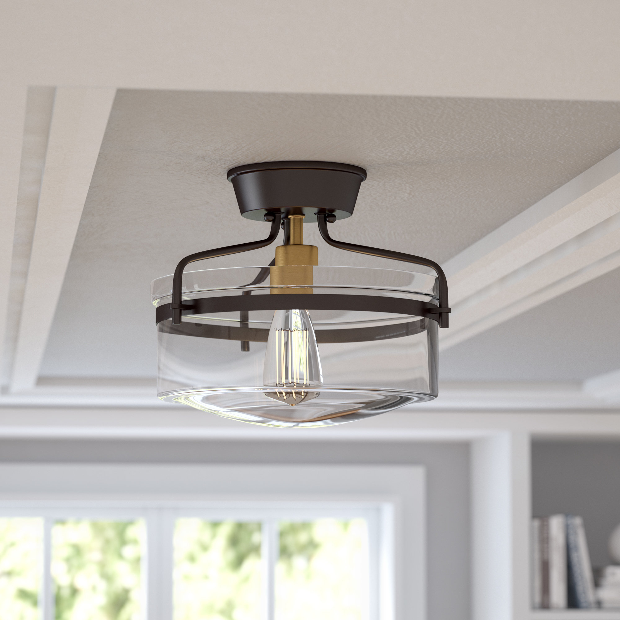 Sussex 1 Light Single Geometric Pendants Within Newest Birch Lane™ Heritage Sussex 1 Light Single Geometric Pendant (Gallery 18 of 20)