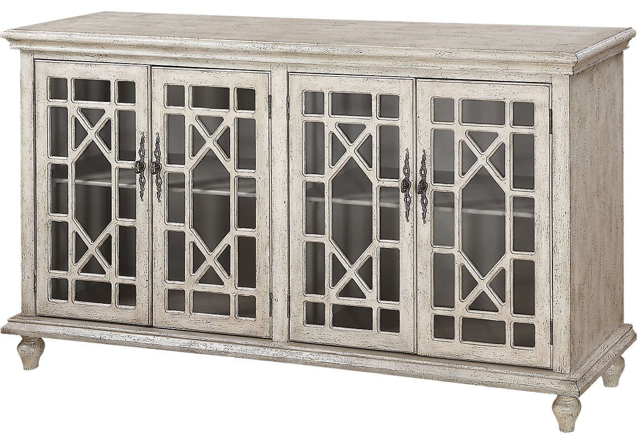 Swansboro Ivory Accent Console (View 14 of 20)