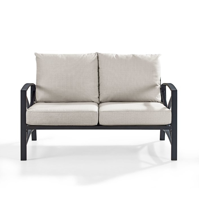 Sylvania Outdoor Loveseats Inside Preferred Freitag Loveseat With Cushions (View 15 of 20)