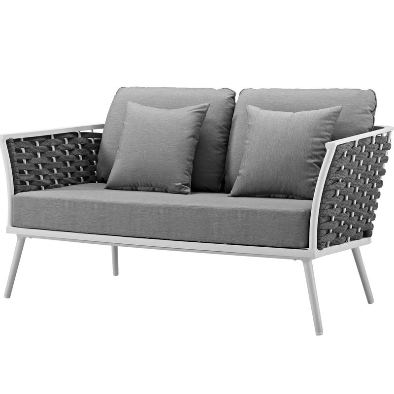 Sylvania Outdoor Loveseats Pertaining To Latest Rossville Outdoor Loveseat With Cushions (View 16 of 20)