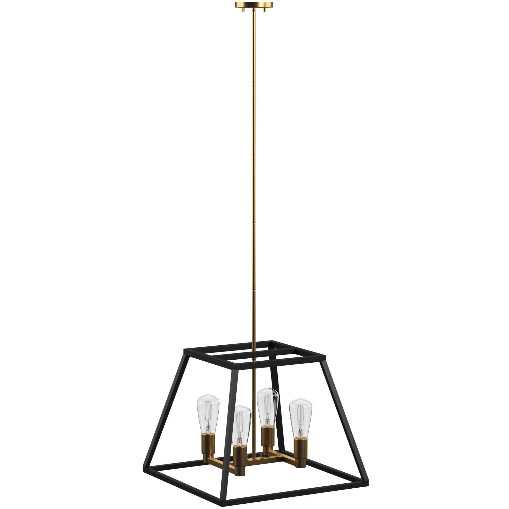 Tabit 5 Light Geometric Chandeliers Pertaining To Fashionable Shisler 4 Light Square/rectangle Chandelier (View 14 of 20)
