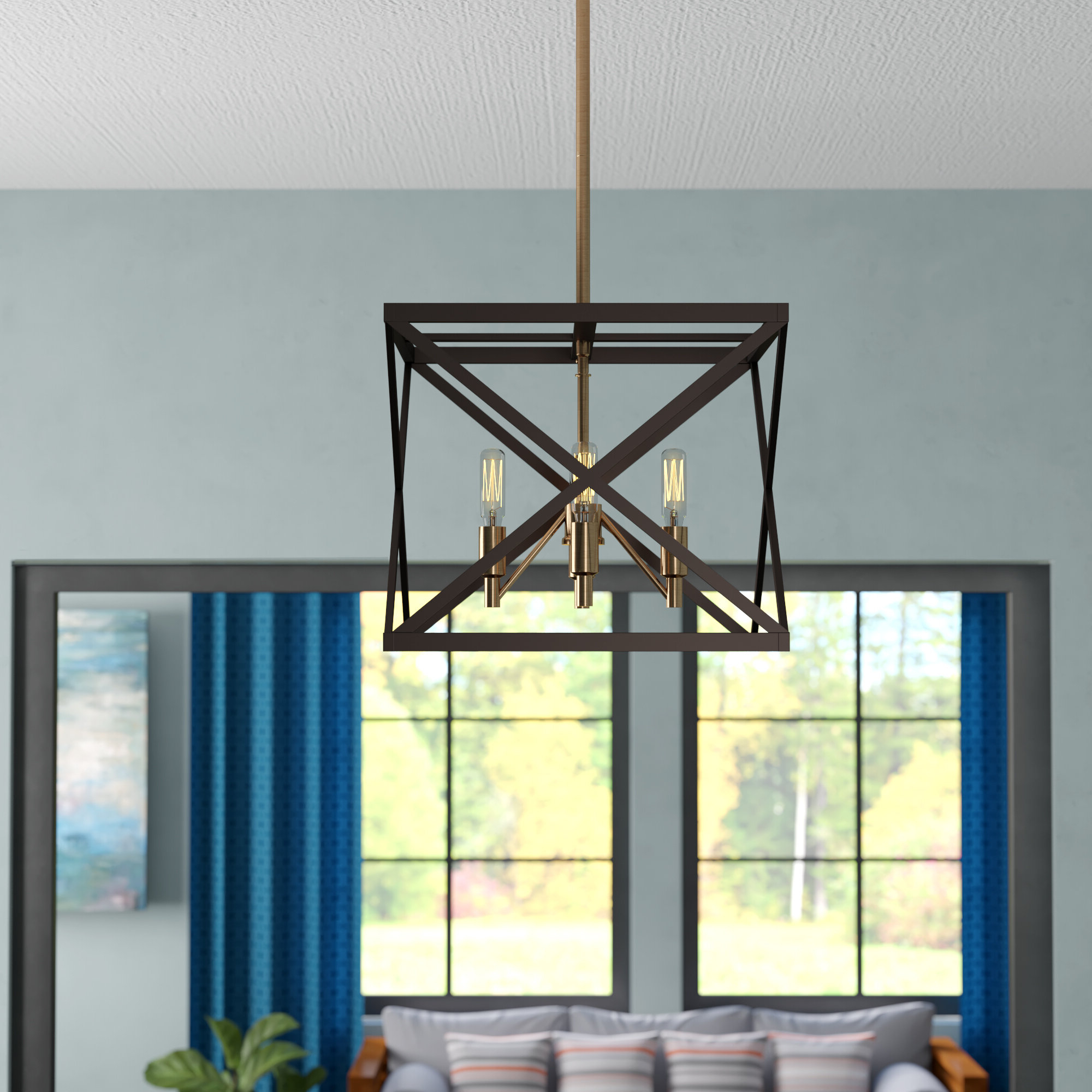 Tanksley 4 Light Square/rectangle Chandelier Intended For Most Recently Released Tabit 5 Light Geometric Chandeliers (View 13 of 20)